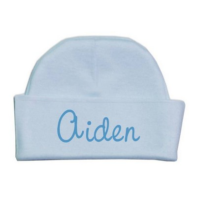 Personalized Name Blue Baby Hat