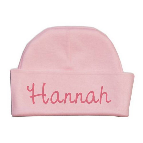 Personalized Name Pink Baby Hat