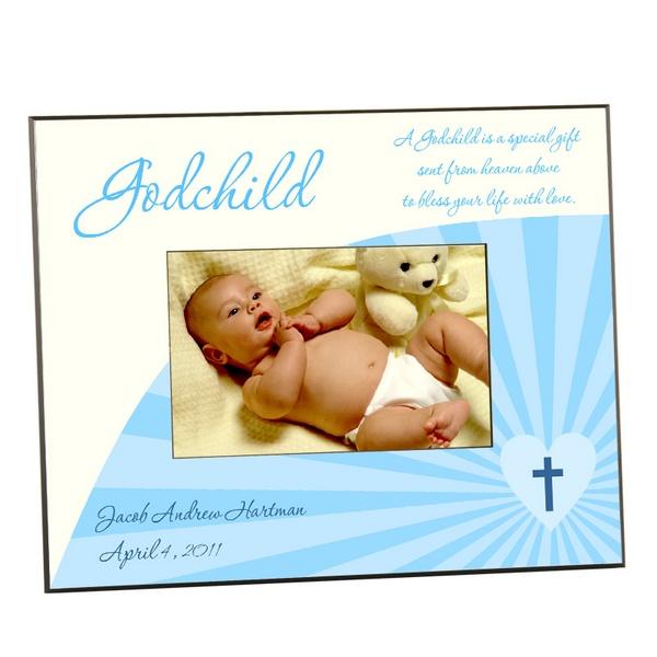 Blue Godchild Photo Frame