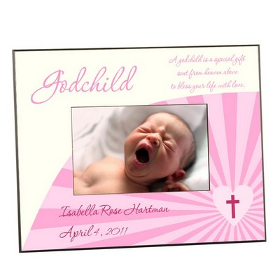 Pink Godchild Photo Frame