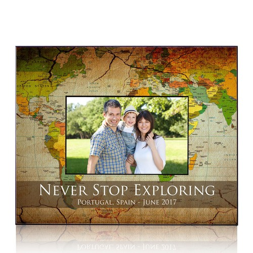 Personalized 8 x 10 Travelers Picture Frame