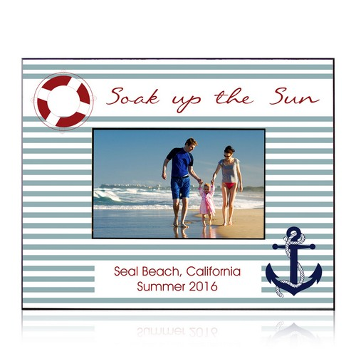 Soak Up the Sun Personalized 4 X 6 Picture Frame