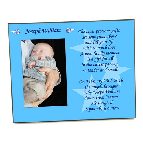 A Gift From Angels Baby Boy Picture Frame