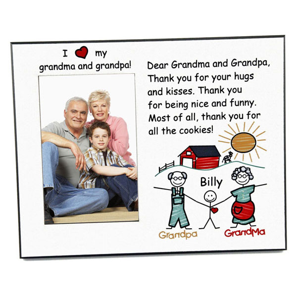 I Love My Grandparents frame