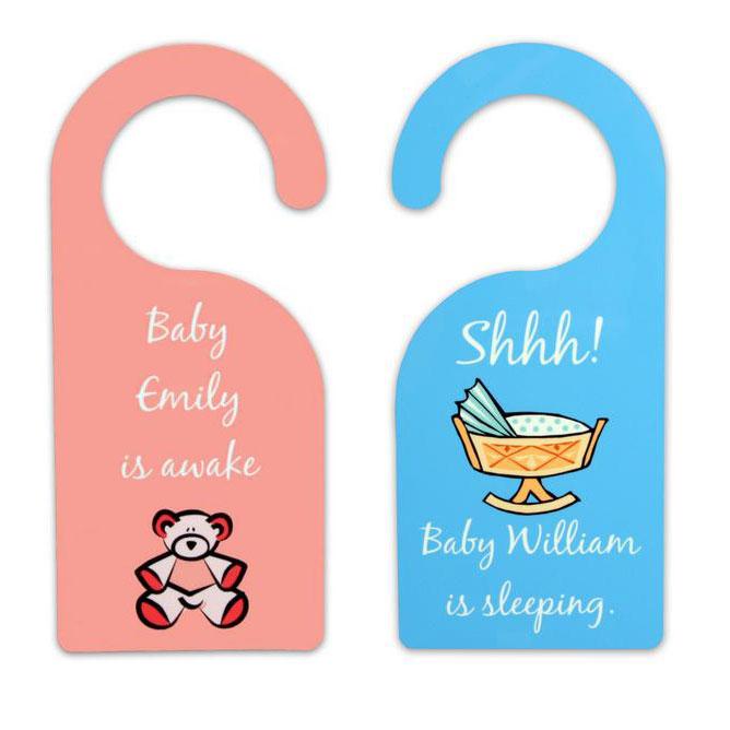 sc 1 st  Memorable Gifts & Sleeping Awake Baby Door Hanger