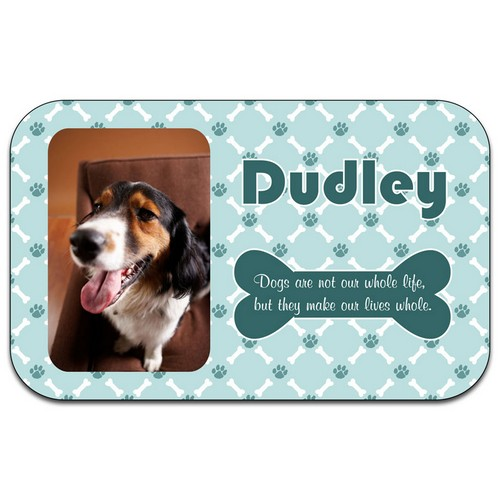 Dog Photo Placemat in Blue or Pink