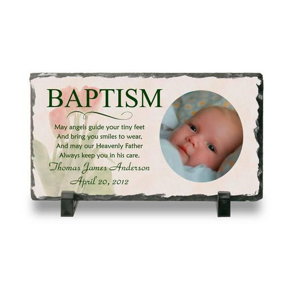 Personalized Baptism Photo Slate Plaque Personalized Baby Baptism