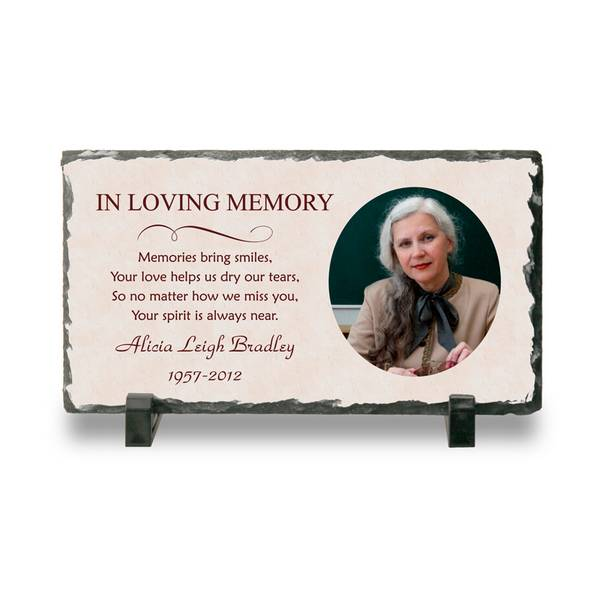 Personalized Memorial Photo Stone Plaque Memorial Plaque Memorial