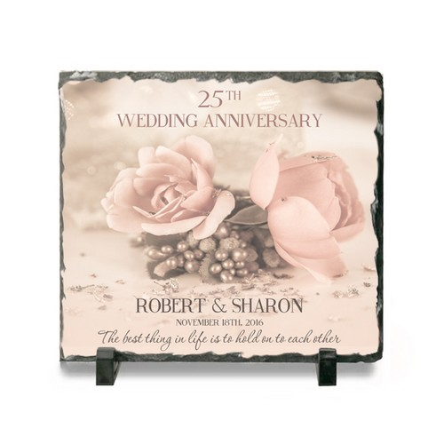 25th Anniversary Personalized Stone Plaque