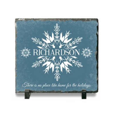 Personalized Family Holiday Ceramic Slate Plaque