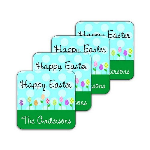Easter Garden Coaster Set