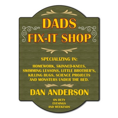 Dads Fix It Personalized Shop Sign