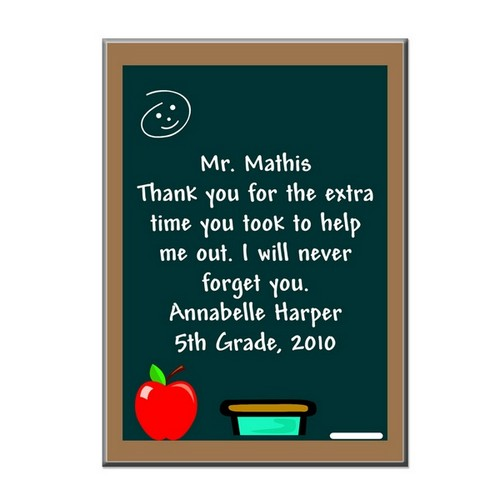 Thank You Teacher Plaque with Easel