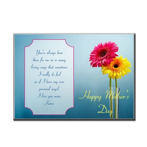 5 x 7 Mothers Day Flower Plaque