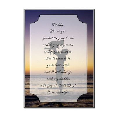 Daddys Little Girl Personalized Desk Plaque with Easel