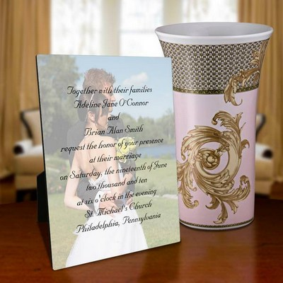8 x 10 Wedding Invitation Photo Panel
