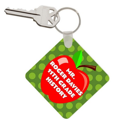 Personalized Apple Keychain For Teacher