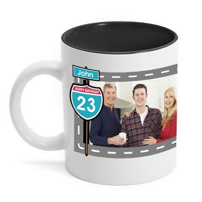 Birthday Highway Sign Photo Mug