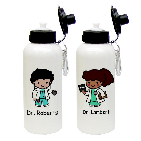 Doctor Custom Character Aluminum Water Bottle