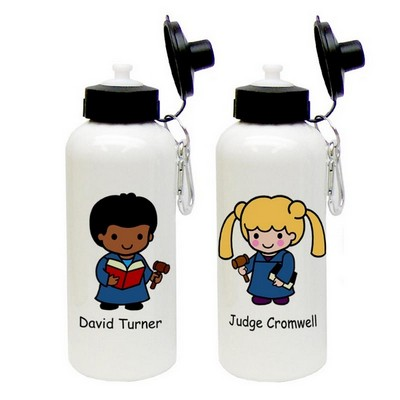 Custom Character Legal Aluminum Water Bottle