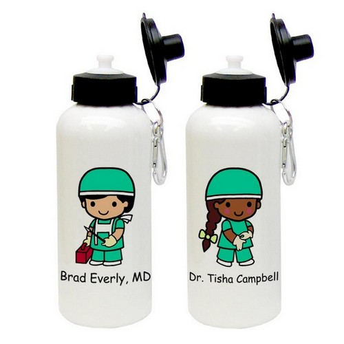 Custom Character Surgeon Aluminum Water Bottle