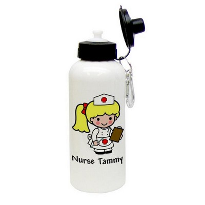 Custom Character Classic Nurse Aluminum Water Bottle