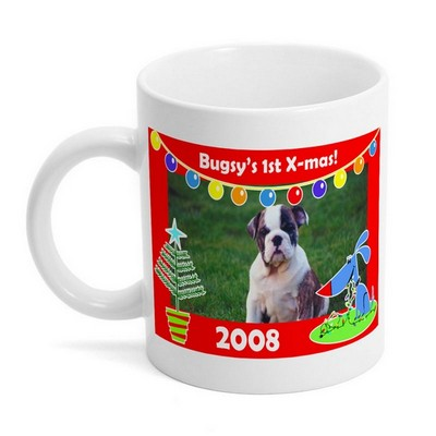 Holiday Fun Dog Photo Mug
