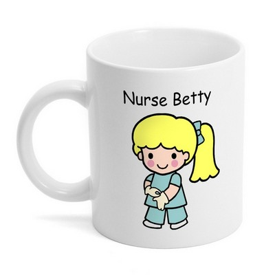 Custom Character Nurse in Scrubs Coffee Mug