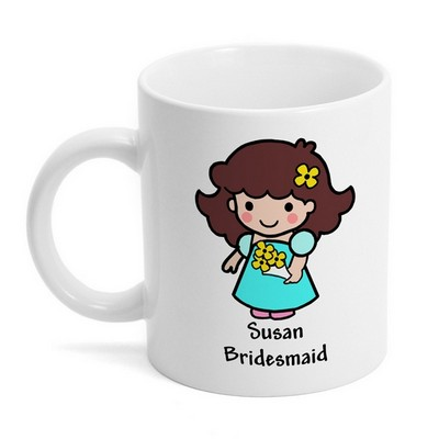 Bridesmaid Custom Character Mug