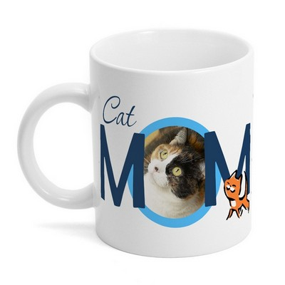 Cat Mom Photo Mug