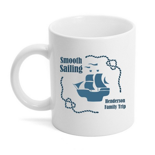 Personalized Smooth Sailing Family Trip Mug