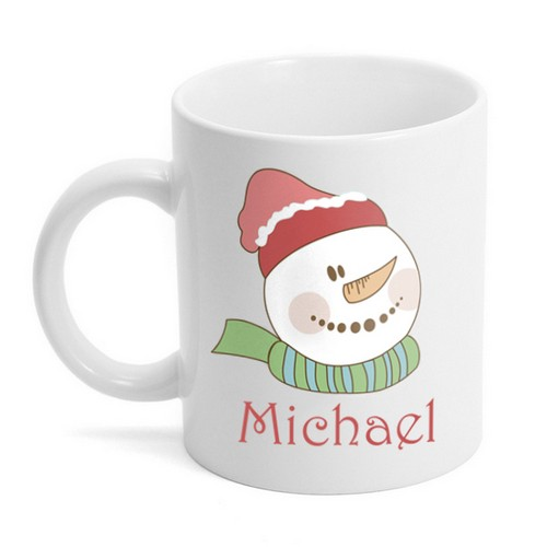 Personalized Snowman Holiday Coffee Mug