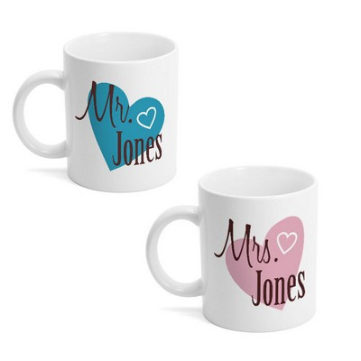 Mr and Mrs Matching Mug Set