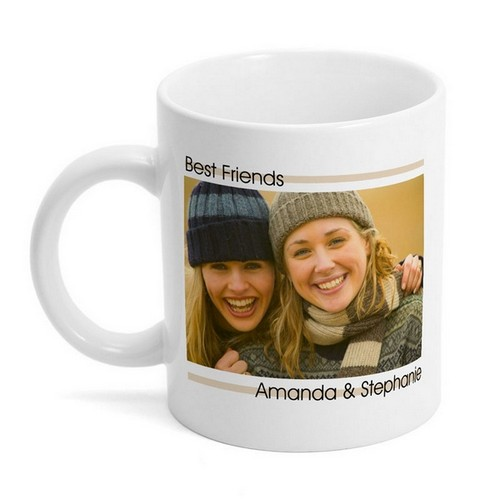 Modern Best Friends Photo Mug