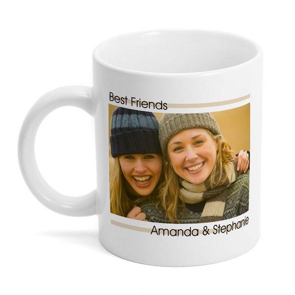 modern best friends photo mug