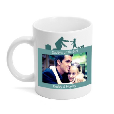 Daddys Little Girl Personalized Photo Mug