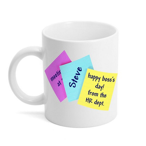Sticky Note Bosses Day Mug
