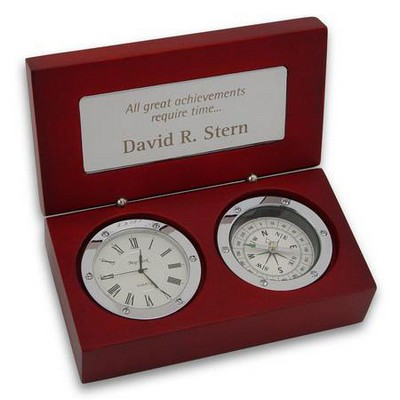 Clock and Compass Gift Box