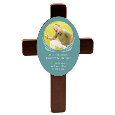 Memorial Rosewood Photo Cross