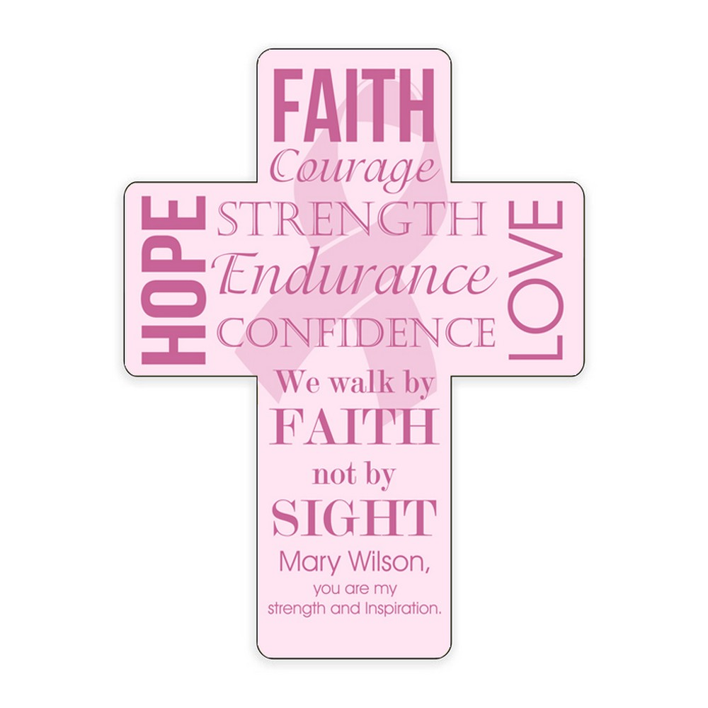 Inspirational Breast Cancer Wall Cross