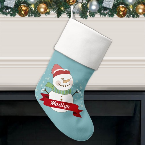 Jolly Snowman Personalized Christmas Stocking