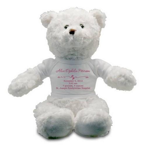 Memorable Gifts  Babies on Girl Teddy Bear   Customized Teddy Bear For Baby Girl   New Baby Gifts