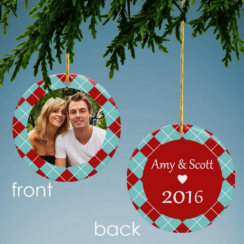 Holiday Cheer Personalized Photo Ornament