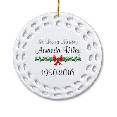 memorial ornament - Christmas Decorations In Memory Of A Loved One