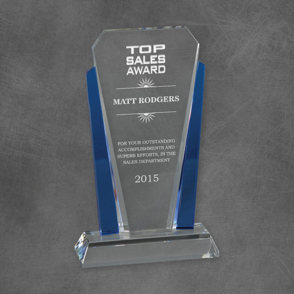 blue crystal top sales award