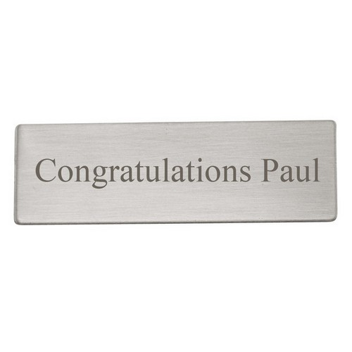 Satin Finish Silver Engraving Plate 11/16 x 2
