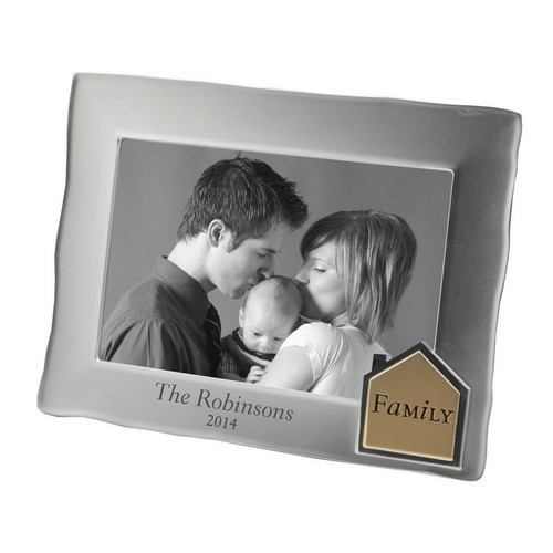 Satin Silver Personalized 4x6 Family Picture Frame