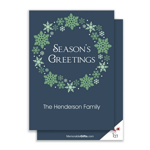 Seasons Greeting Wreath Holiday Card
