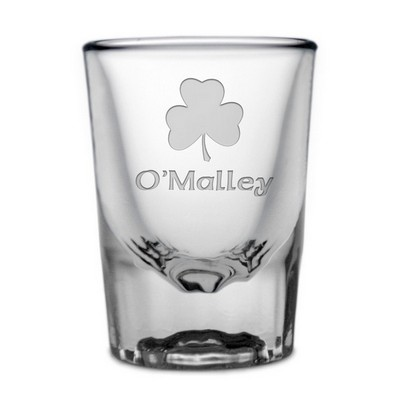 Shamrock Personalized Irish Shot Glass