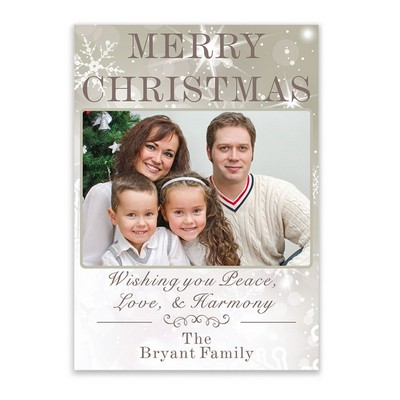 Shining Star Family Photo Christmas Card